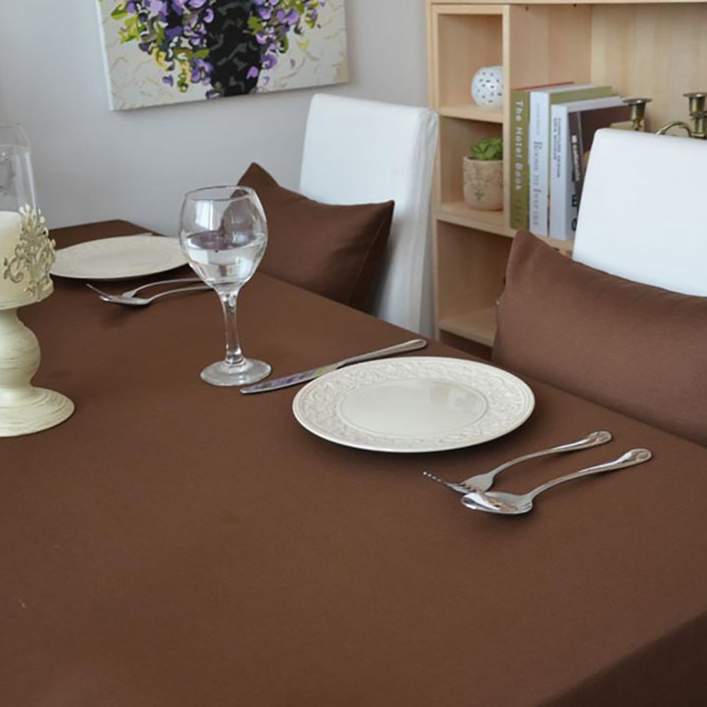 Nappes Anti Taches//Nappe Decoration pour Mariage Cuisine d Exterieur Bordeaux 60x60 cm NiSeng Nappe de Table Polyester Rectangulaire Carr/ée