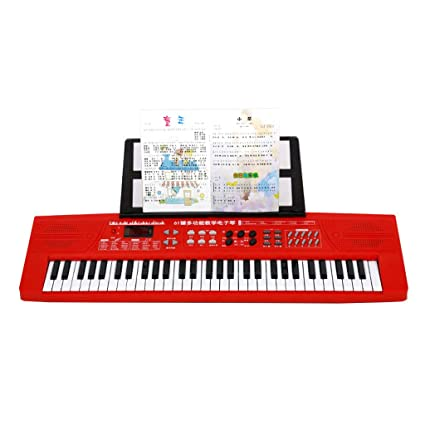 LIUFS-Piano Childrens Keyboard 61 Keys A Variety of Colors Optional Toy Piano Electric Piano