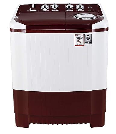 LG 7 kg Semi-Automatic Top Loading Washing Machine (P7010RRAA, Burgundy):  Amazon.in: Home & Kitchen
