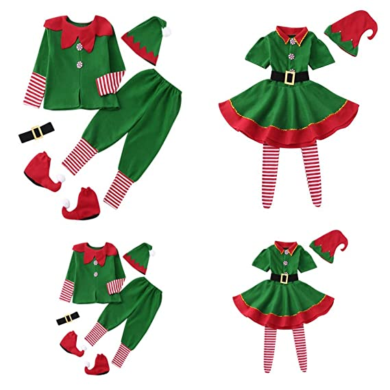 Fossen Kids 4pcs Pijamas Familiares Navidad Disfraz, Pijama ...