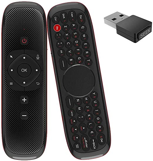 G-wukeer Teclado Inalámbrico Fly Mouse, Air Mouse Control Remoto por Voz W2 2.4G Micrófono Inalámbrico Mini Teclado para Android Smart TV Box Proyector: Amazon.es: Hogar