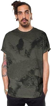 MOMKER Mens Summer Black Universe Sky Cool Print Short Sleeve Comfort Shirt Top