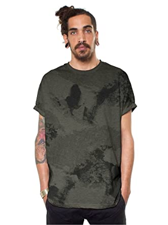 22a0a847 Mens Camouflage Baggy T-Shirt Army Green Unique Print Graphic Going Out Top  | Amazon.com