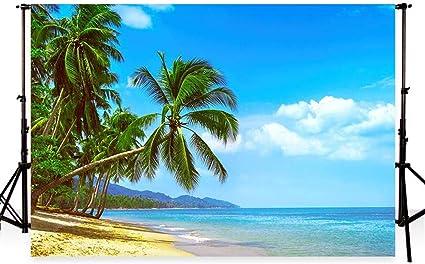 Waw 7x5ft Tropical Blue Sky Meer Hintergrund Kamera