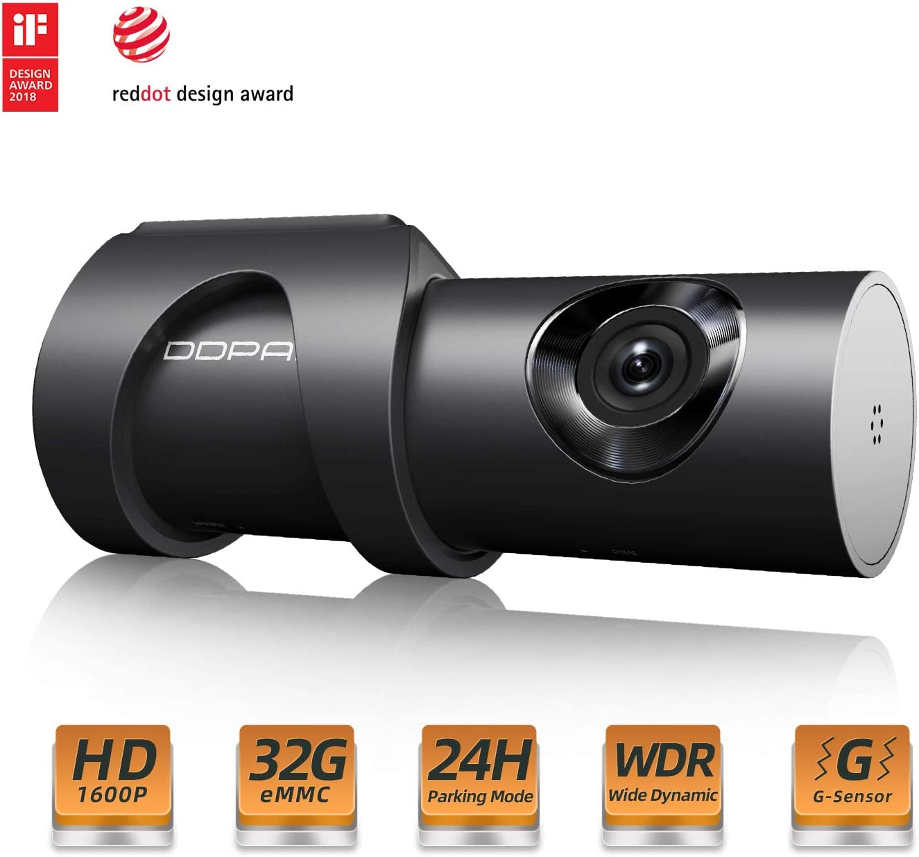 DDPAI 1600P HD Dash Camera Built-in 32g Storage Wi-Fi Wide Angle Dashboard Camera, Car DVR Vehicle Dash Cam with F1.8, WDR, Night Vision, G-Sensor, ...