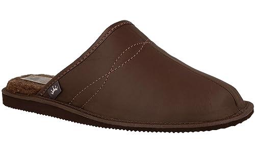 RBJ Pelle scarpe Pantofole di da Uomo di Pelle di Pantofole Lana Naturale ... 75a628