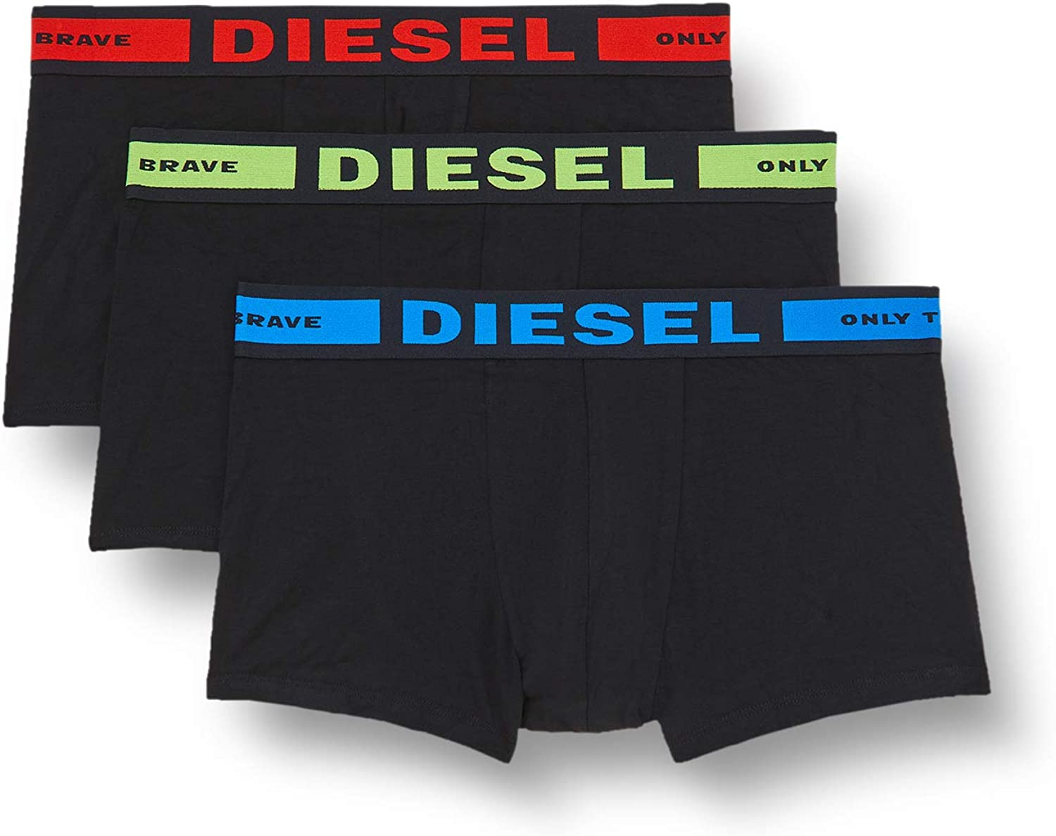 Diesel Men's Kory Three Pack Colored Waistband 3 Pack Trunk