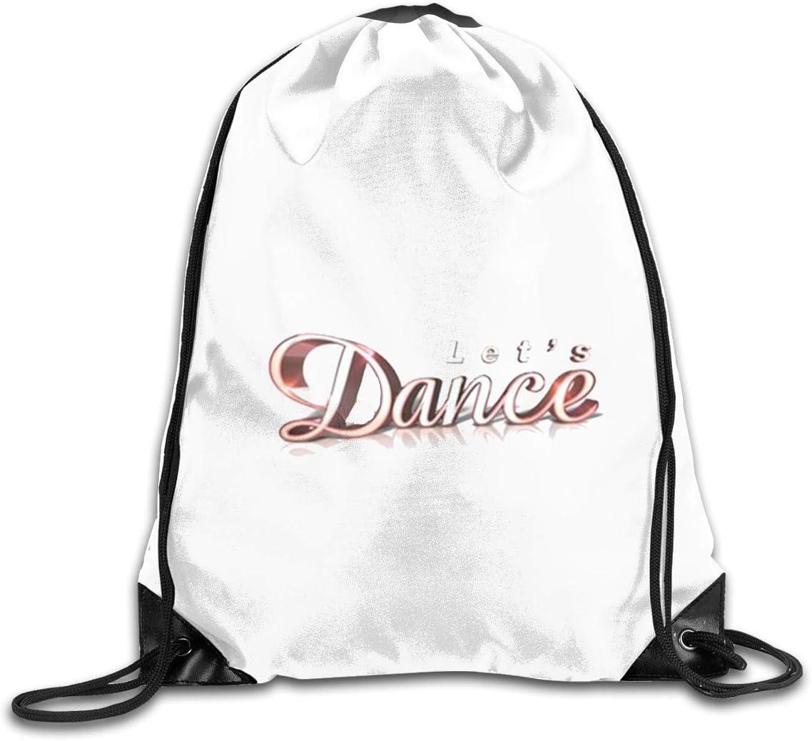 Just Dance Drawstring Bags Eat Sleep Dance Repeat Beam Mouth Backpack Basketball Tennis Gympack