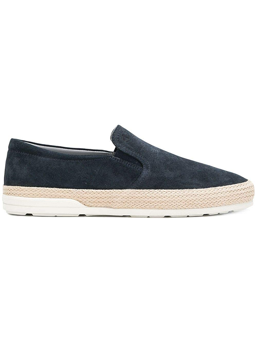- Hogan Men's HXM3580AE50HG0U805 bluee Leather Slip On Sneakers