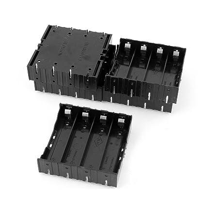 lowest price f2fbe 544fc Battery Case Holder for 4x3.7V 18650 Battery - TOOGOO(R) 5Pcs Li-ion DIY  Battery Plastic Case Holder for 4x3.7V 18650 Battery