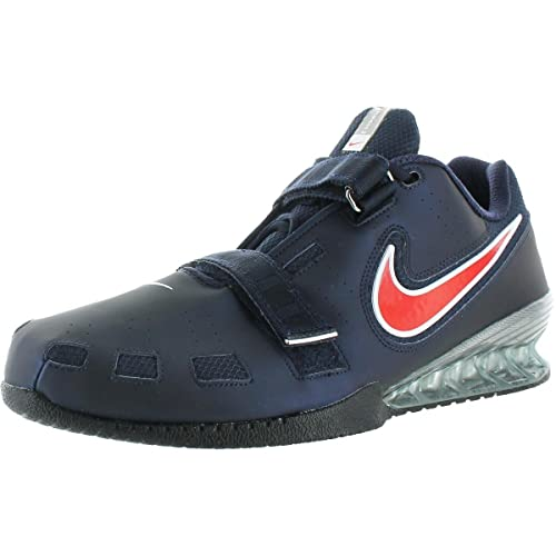 brand new 7f64f 5ecbd Nike Romaloes 2 Men s Faux Leather Lace-up Weightlifting Shoe Navy Size 18