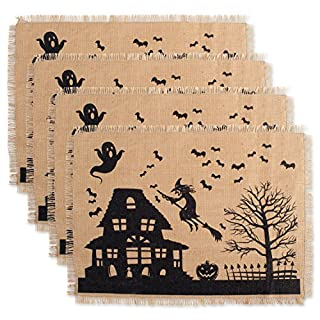 DII Jute/Burlap Placemat, Set of 4, Haunted House - Perfect for Halloween, Dinner Parties and Scary Movie Nights (B072WSJRN9) | Amazon price tracker / tracking, Amazon price history charts, Amazon price watches, Amazon price drop alerts