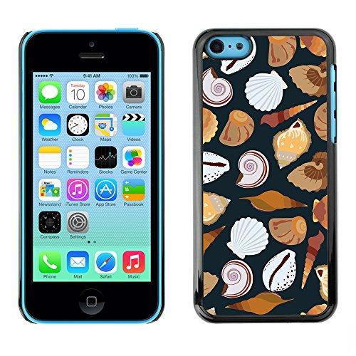 Premio Sottile Slim Cassa Custodia Case Cover Shell // V00002031 motif de coquillages // Apple iPhone 5C