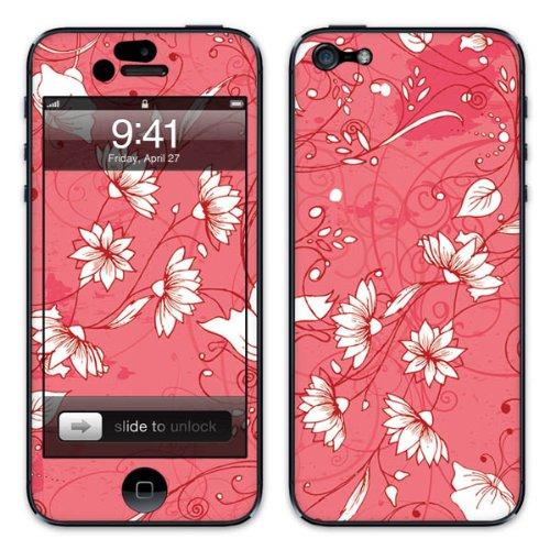 Diabloskinz B0081-0004-0031 Vinyl Skin für Apple iPhone 5/5S Red Flower