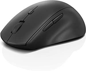 Lenovo 600 Wireless Media Mouse, 3 Adjustable DPI Levels, 2-Speed Scroll Wheel, Volume Buttons, Ergonomic Design, Red Optical Sensor, 12-Month Battery, GY50U89282