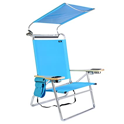 Deluxe 4 position Aluminum Beach Chair w/ Canopy u0026 Storage Pouch  sc 1 st  Amazon.com & Amazon.com : Deluxe 4 position Aluminum Beach Chair w/ Canopy ...