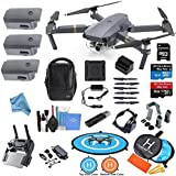 DJI Mavic PRO Drone Quadcopter Flymore ALL YOU NEED & MORE Combo w/ 3 Batteries, 4K Professional Camera Gimbal Bundle Kit w/ Amazing Accessories