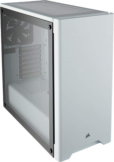 Corsair Carbide 275R - Caja de ordenador semitorre para juegos (Torre ATX mediana con ventana de vidrio templado), blanco: Amazon.es: Informática
