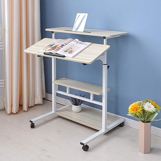 HMJY Mesa de Escritorio Plegable, Mesa de Ordenador portátil de ...