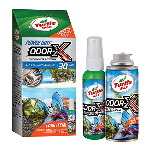 Turtle Wax Odor-X Deodorizing Kit - Exclusive technology seeks and destroys odors for up to 30 days - Scent: Caribbean Crush - Includes FREE Odor-X travel spray for more control, 1 kit, sold by kit