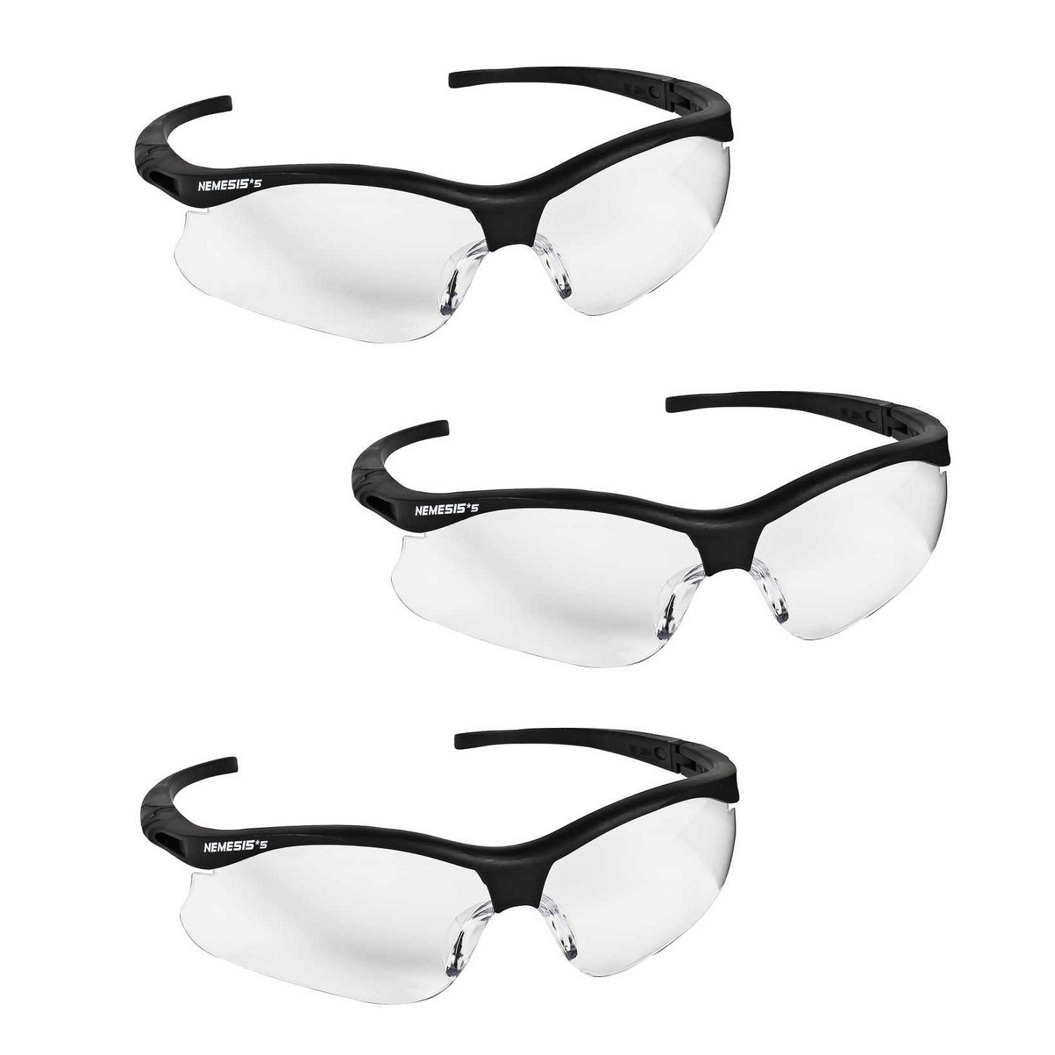 5496a4d307b9 Jackson Safety V30 22609 Nemesis Safety Glasses 3020707 (3 Pair) (Camo  Frame with Smoke Anti-Fog Lens) - - Amazon.com