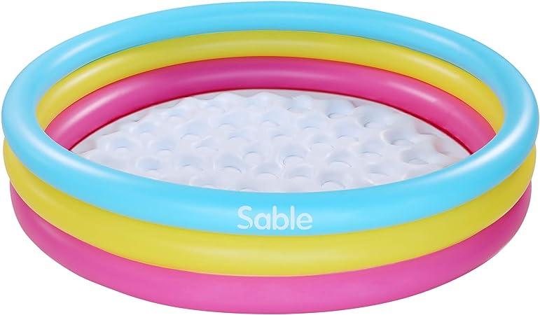 Sable Piscine Gonflable pour Enfants Sport Aquatique avec Deux Valves Piscine Rectangulaire 147 x 33cm pour Jardin et Ext/érieur