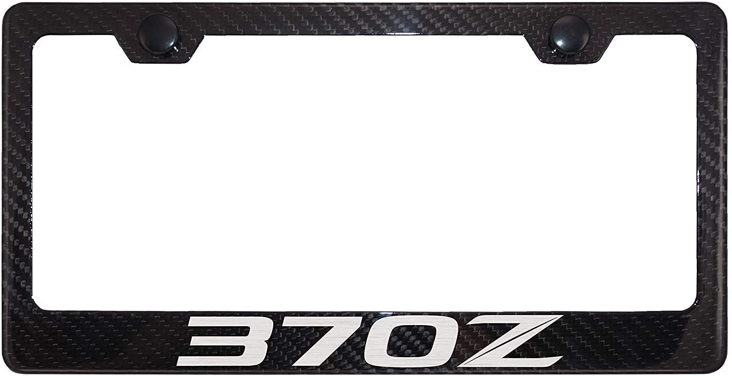 Lavnox Carbon Fiber Metal 370Z License Plate Frame Tag Holder Mount for Nissan 370Z 2