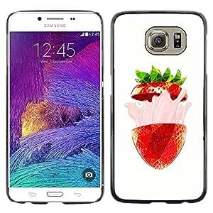 Paccase / SLIM PC / Aliminium Casa Carcasa Funda Case Cover - Strawberry Burst Flavor Summer Red - Samsung Galaxy S6 SM-G920