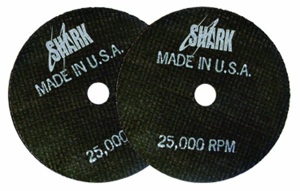 Shark 12712 4-Inch by 1/16-Inch by 3/8-Inch Double Reinforced Cut-off Wheels 54 Grit, 10-Pack