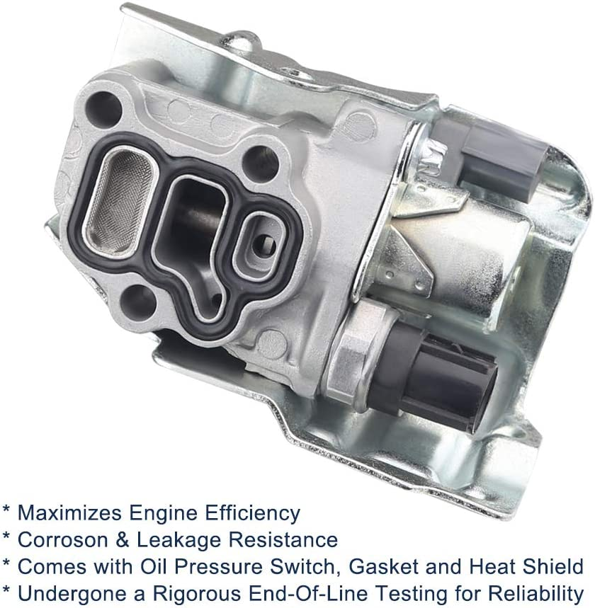 Element 917224 15810-RAA-A01 Civic 2.0L Fits Honda Accord 2.4L 15810RAA Acura RSX WMPHE Spool Valve Assembly with Oil Pressure Switch VTEC Solenoid CR-V Replaces 15810RAAA03 15810-RAAA03