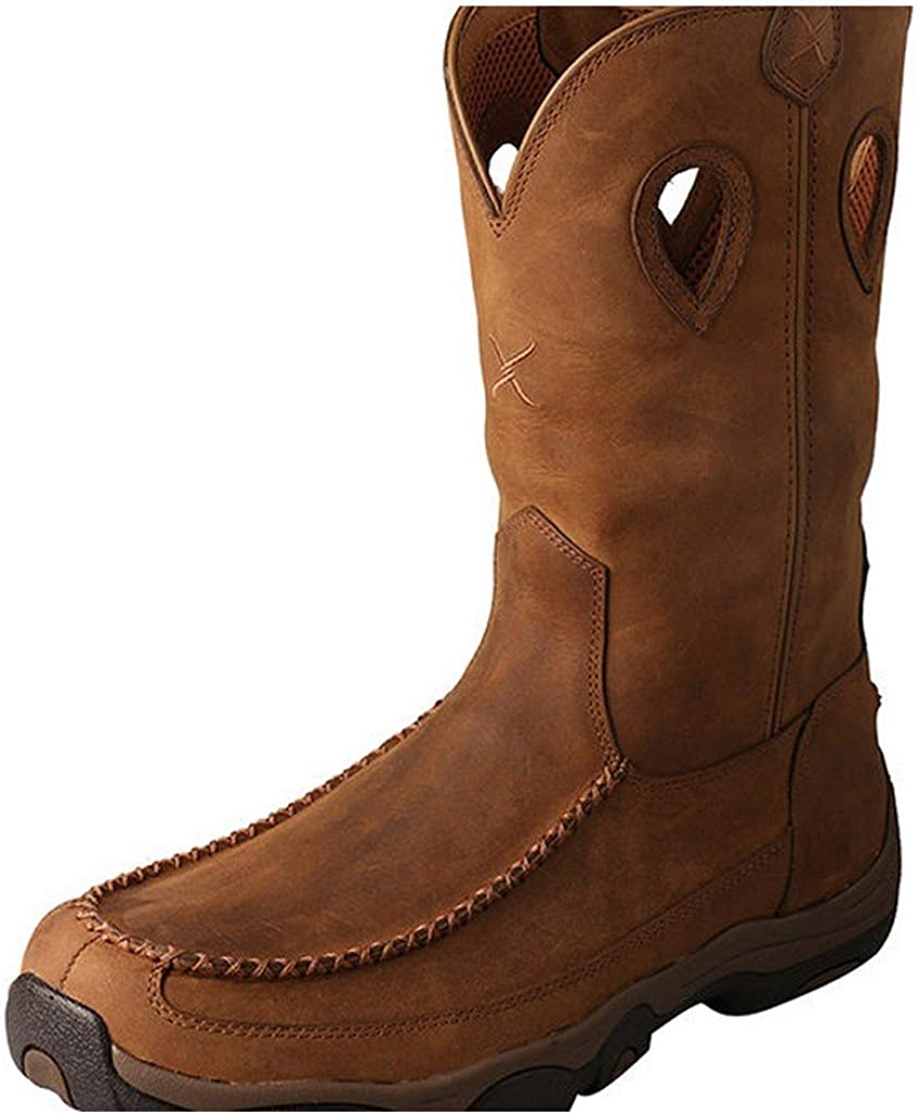 Twisted X Men s 11 Pull-On Hiker Boot, Distressed Saddle Saddle, 10 M