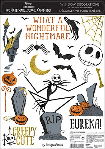 The Nightmare Before Christmas Cling Decals -