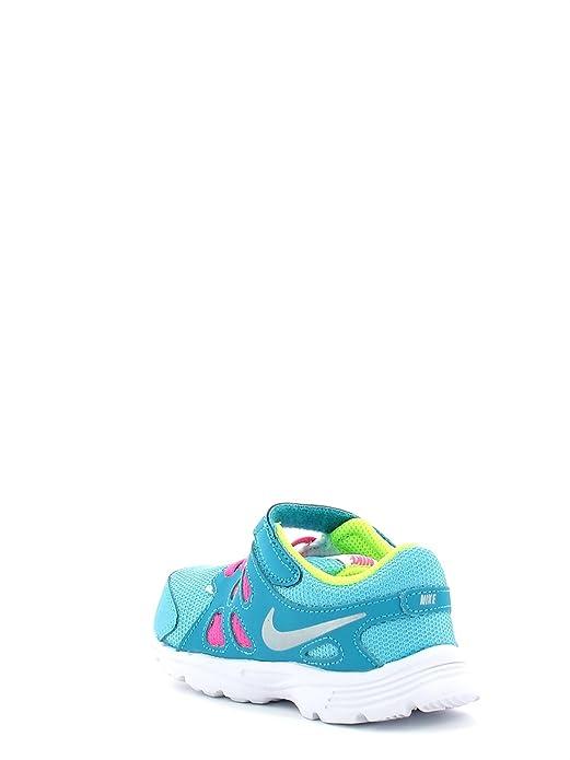 Nike Revolution 2 TDV, Scarpe da Corsa bambini Multicolore Plateado/Azul/Verde (Clrwtr/Mtllc Slvr-Bl Lgn-Vlt) 22