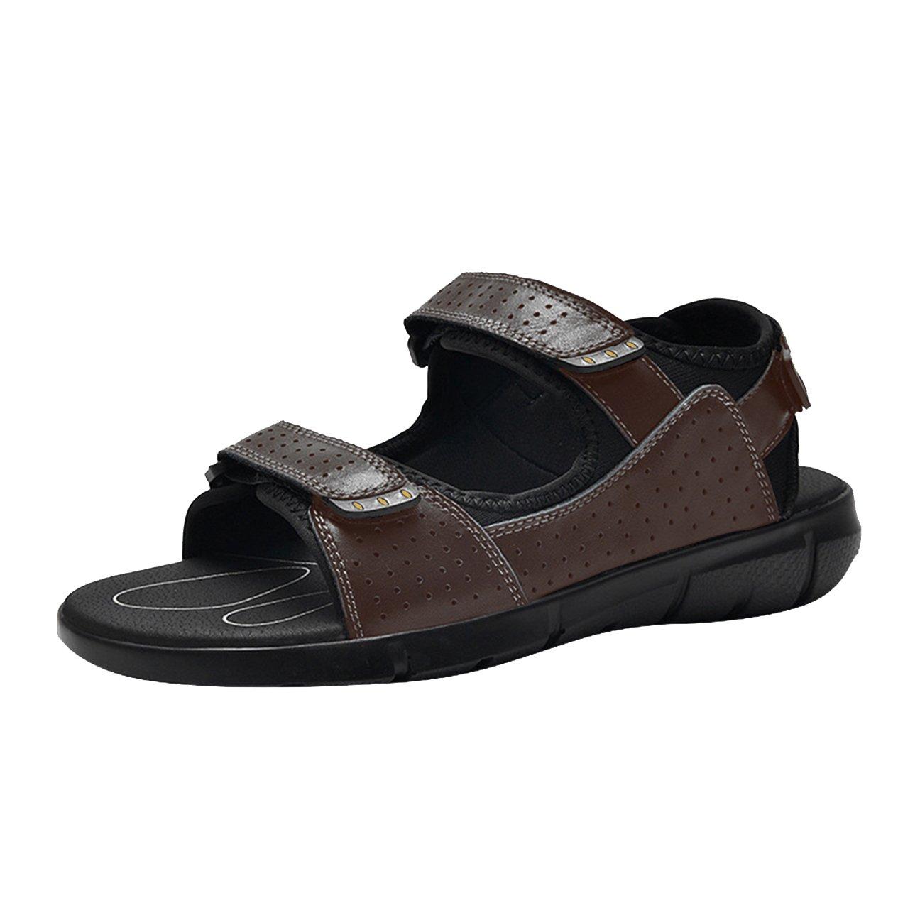 SK Studio Sandalias para Hombres Zapatos Casuales de Cuero 47 EU|Marrón