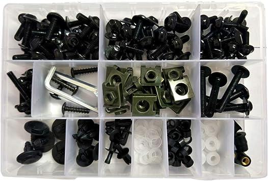 Verkleidungsschrauben Set Tragbares Verkleidung Universalschrauben Set Buntes Motorrad Zubehör Ersatz Verkleidungsschrauben Set Baumarkt