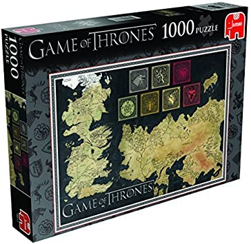Game of Thrones: Map of The Known World Jigsaw Puzzle (1000 Pieces) by Jumbo Games: Amazon.es: Juguetes y juegos
