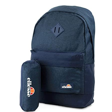 7686a0db0b32 ELLESSE Fonza Backpack Navy School Bag SHAU0484 - FREE PENCIL CASE   Amazon.co.uk  Luggage