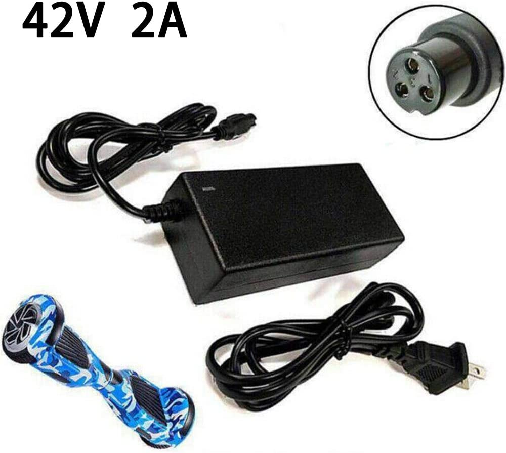Hoverboard Balance Scooter Battery Charger Adapter Power Supply 42V//2A UK Plug