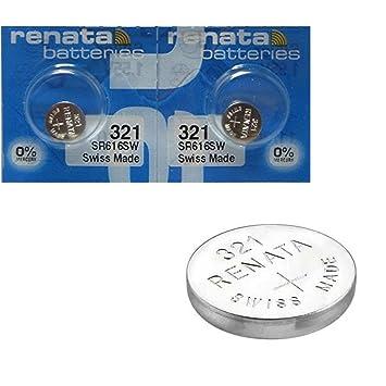 fe6a37b5e 2 x batería reloj Renata muñecas - fabricado en Suiza - sin pilas de óxido  de plata 0% mercurio Renata pila botón 1,55 V pilas larga duración:  Amazon.es: ...