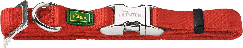 HUNTER - Collar de Nylon básico Modelo ALU-Strong Vario para Perro (M/Rojo)