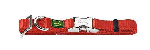 3 opinioni per Collare Hunter cane di nylon con clip in alluminio, Medio, Rosso