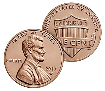 SET UNCIRCULATED LINCOLN SHIELD CENTS PENNY/'S Pc 2019 P/&D 2