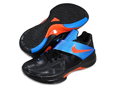 aed644d6f5a9 Nike Men s Zoom Kevin Durant IV 473679 001 Black Team Orange Photo Blue  (Men s 8.5