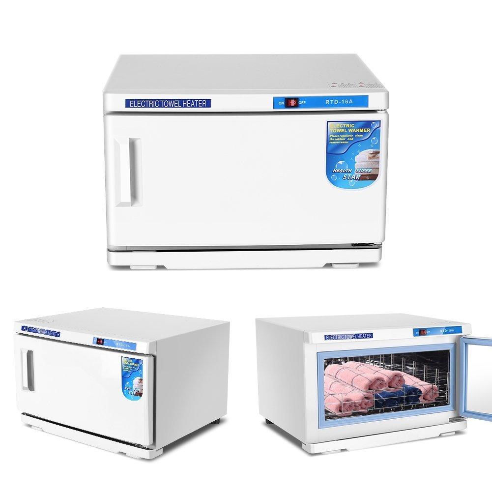 GOTOTOP 16L Función 2 en 1 Esterilizador de Toallas Gabinete de Esterilización de Toallas por Alta Temperatura y UV Caja de Desinfección para Hogar, SPA, ...