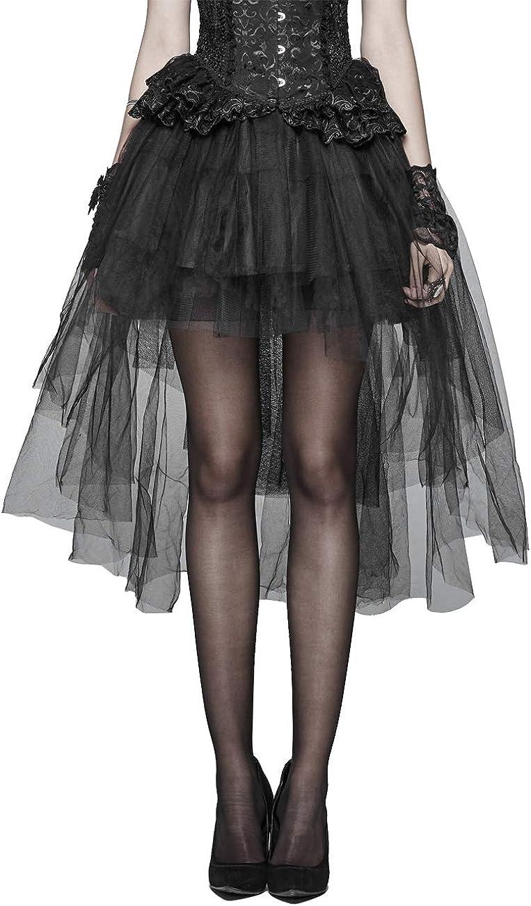 Details about  /Steampunk Skirt Black Victorian Goth Lolita Hi-Low Adult Women/'s Costume SM-XL