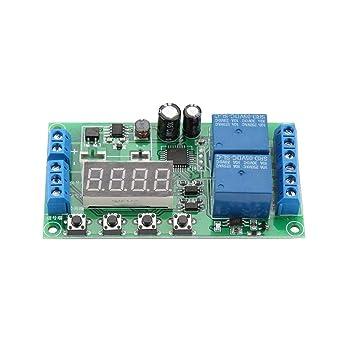 Entr/ée DC Sortie 7-30V Charge AC//DC Charge multifonctionnelle D/éclenchement par impulsions Module de relais temporis/é r/églable YF-7 Relais temporis/é /à double canal