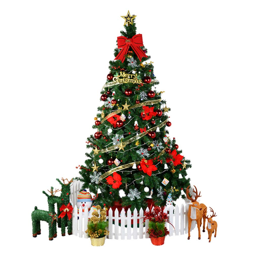 XF Christmas Tree - Christmas Decorations Pine Needle Christmas Tree Mall Window Decoration Tree Christmas Scene Decoration // (Color : 1)