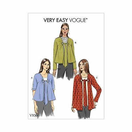 Vogue V9306 - Chaqueta de Corbata para Mujer (Talla XS-XL): Amazon ...