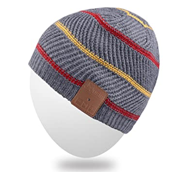 Bluetooth Gorra Gorrita,Mydeal recargable Bluetooth Audio Beanie Fashional de doble casquillo del Knit sombrero