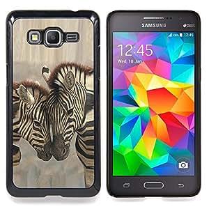Zebra Brothers Love Caja protectora de pl??stico duro Dise?¡Àado King Case For Samsung Galaxy Grand Prime G530H G5308